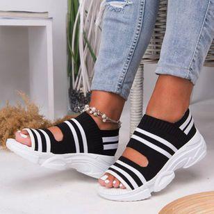 Women's Knit Flats Flat Heel Sandals_5