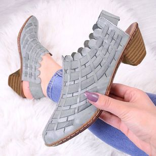 Women's Knit Heels Cone Heel Sandals_2