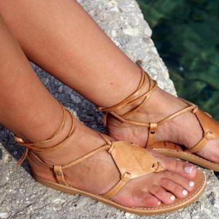 Women's Lace-up Flip-Flops Flat Heel Sandals_2