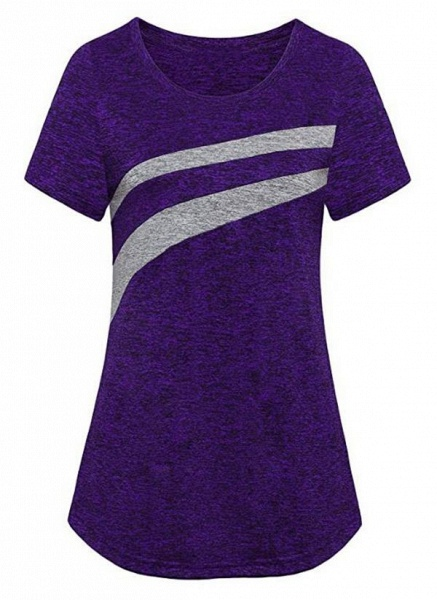Women's Athletic Casual Sporty Polyester Yoga T-shirt Fitness & Yoga_6