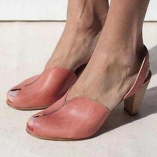 Women's Peep Toe Slingbacks Cone Heel Sandals_2