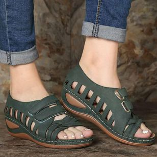 Women's Hollow-out Wedge Heel Sandals_5