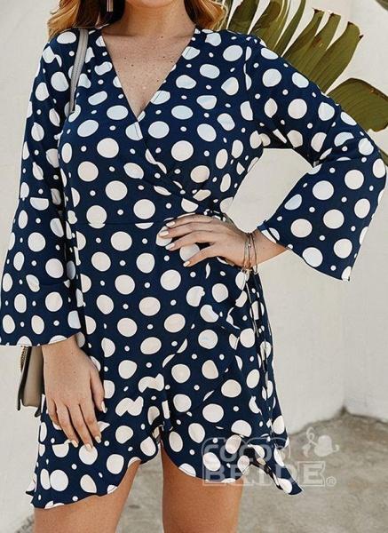 Yellow Plus Size Color Block V-Neckline Casual Maxi X-line Dress Plus Dress_6