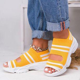 Women's Knit Flats Flat Heel Sandals_3