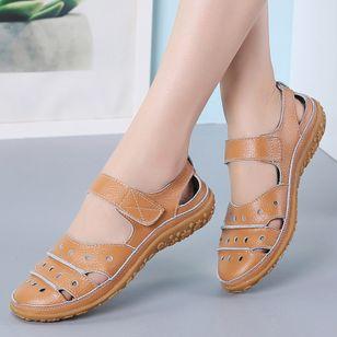 Women's Hollow-out Flats Flat Heel Sandals_5