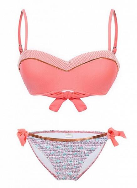 Polyester Color Block Bikinis Swimwear_5