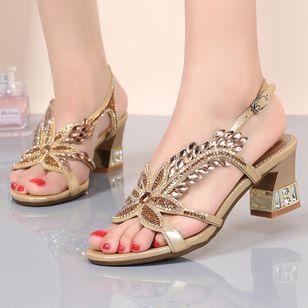 Women's Flower Heels Chunky Heel Sandals_2