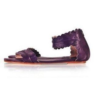 Women's Zipper Leatherette Low Heel Sandals_7