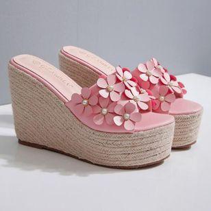 Women's Flower Peep Toe Wedge Heel Sandals_10