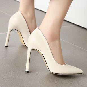 Women's Pointed Toe Heels Patent Leather Stiletto Heel Sandals_3