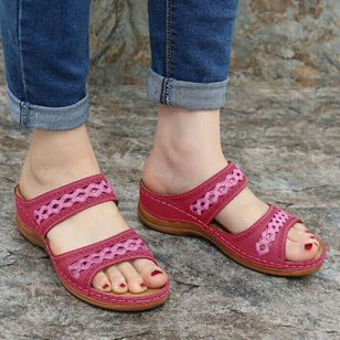 Women's Hollow-out Flats Low Heel Sandals_3