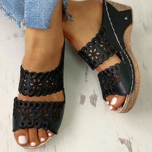 Women's Hollow-out Heels Wedge Heel Sandals_8