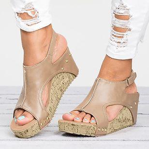 Women's Velcro Heels Wedge Heel Sandals_1