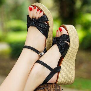 Women's Buckle Slingbacks Wedge Heel Sandals Platforms_1
