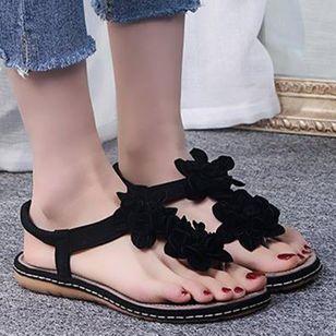 Women's Flower Flip-Flops Flat Heel Sandals_3