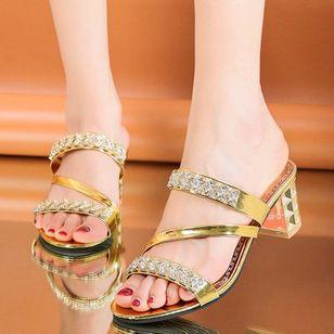 Women's Heels Chunky Heel Sandals Slippers_2