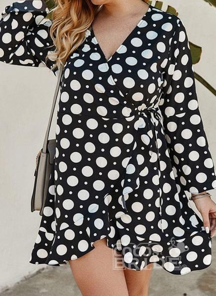 Yellow Plus Size Color Block V-Neckline Casual Maxi X-line Dress Plus Dress_5