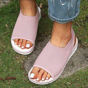 Women's Slingbacks Fabric Wedge Heel Sandals_6