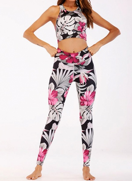 Women's Athletic Casual Polyester Yoga Clothing Suit Fitness & Yoga_3