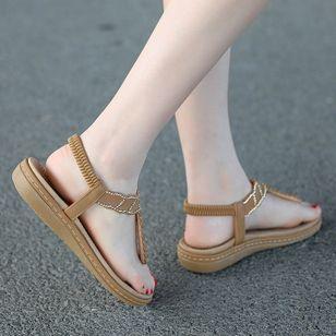Women's Rhinestone Flip-Flops Flat Heel Sandals_2