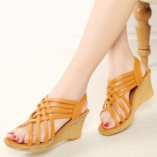 Women's Slingbacks Wedge Heel Sandals_8