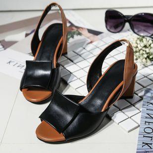 Women's Slingbacks Chunky Heel Sandals_3