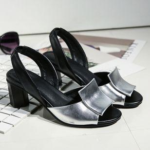 Women's Slingbacks Chunky Heel Sandals_4