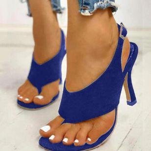 Women's Buckle Slingbacks Flip-Flops Stiletto Heel Sandals_3