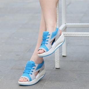 Women's Lace-up Wedge Heel Sandals_4