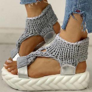 Women's Flats Cloth Flat Heel Sandals Platforms_9