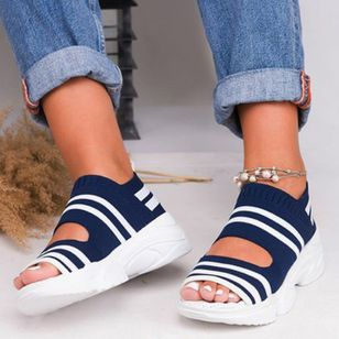 Women's Knit Flats Flat Heel Sandals_2
