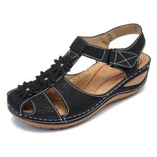 Women's Flower Slingbacks Flat Heel Sandals_2