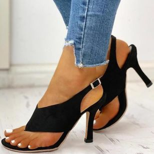 Women's Buckle Slingbacks Flip-Flops Stiletto Heel Sandals_2