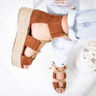 Women's Lace-up Flats Cloth Flat Heel Sandals_3