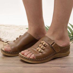 Women's Rhinestone Velcro Heels Wedge Heel Sandals_3