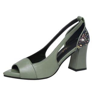 Women's Sequin Heels Spool Heel Sandals_2