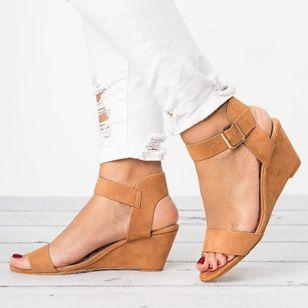 Women's Buckle Slingbacks Wedge Heel Sandals_4