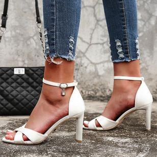 Women's Buckle Heels Stiletto Heel Sandals_1