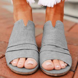 Women's Leopard Heels Chunky Heel Sandals_5