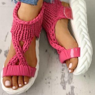 Women's Flats Cloth Flat Heel Sandals Platforms_6