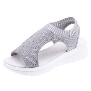 Women's Slingbacks Fabric Wedge Heel Sandals Platforms_2