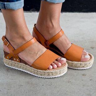 Women's Buckle Heels Wedge Heel Sandals_2