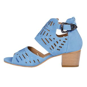 Women's Hollow-out Peep Toe Chunky Heel Sandals_3