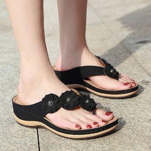 Women's Peep Toe Slingbacks Wedge Heel Sandals_4