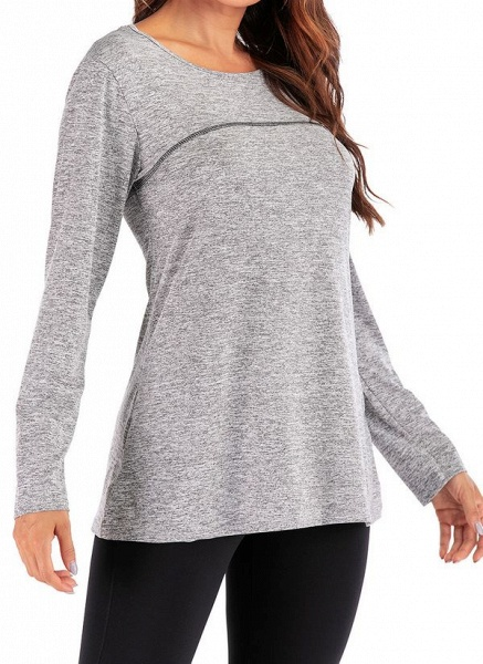 Women's Casual Polyester Yoga T-shirt Fitness & Yoga_10