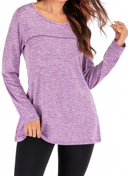 Women's Casual Polyester Yoga T-shirt Fitness & Yoga_7