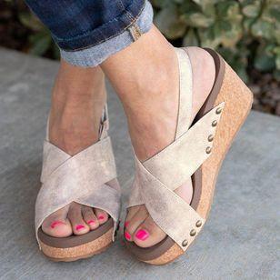 Women's Velcro Heels Wedge Heel Sandals_6