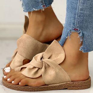 Women's Bowknot Flats Cloth Flat Heel Sandals_6