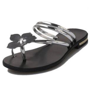 Women's Flower Flats Flat Heel Sandals_6
