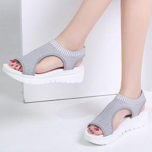 Women's Slingbacks Fabric Wedge Heel Sandals Platforms_5